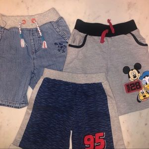 Disney Bottoms - Bundle of boys Disney shorts size 4T